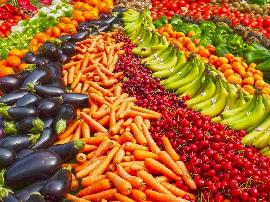 In caso di dermatite seborroica, frutta e verdura vanno consumati a volontà